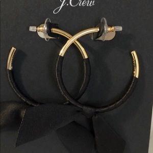 JCrew ribbon wrapped hoop earrings